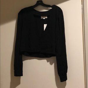 Stone Cold Fox black long sleeved blouse